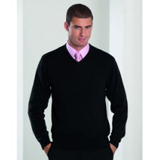 710M Russell V Neck Knitted Jumper